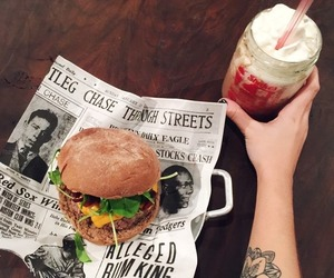 food, drink, and tattoo image