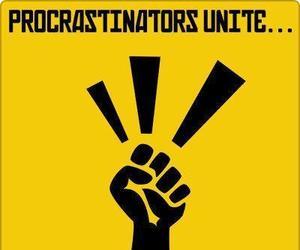 funny, procastination, and procrastinators image