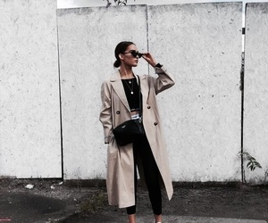 classy, coat, and ootd image
