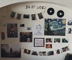 room, art, and vintage image