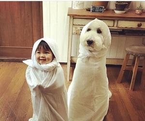 asian, child, and dog image
