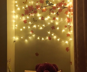bedroom, cherryblossom, and goodnight image