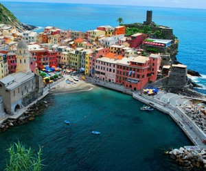 italy, sea, and travel image