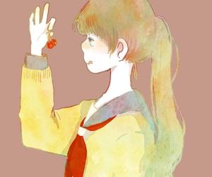 女の子, 水彩, and 可愛い image