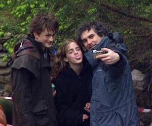 daniel radcliffe, emma watson, and harry potter image