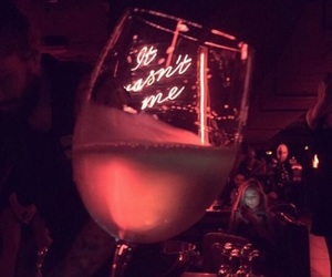 drink, neon, and wine image