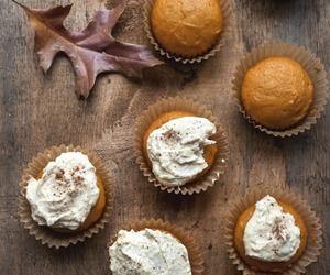 autumn, fall, and cupcake image