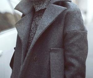 coat, fashion, and grey image