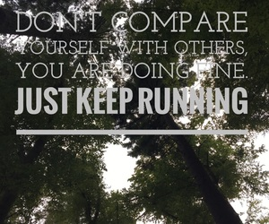 quotes, fitness, and run image