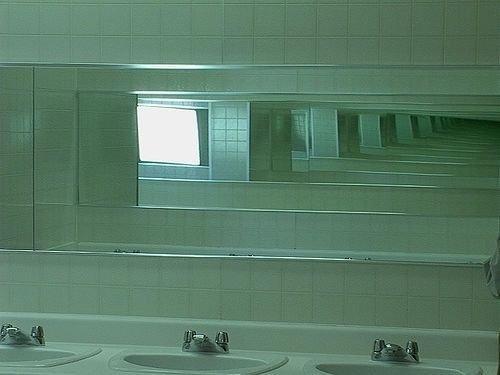 mirrors, bipolar, and green image