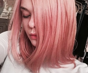 hair, pink, and Elle Fanning image