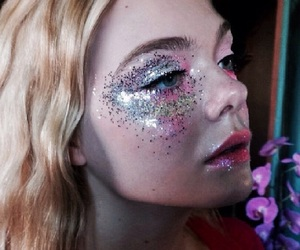 Elle Fanning, blonde, and the neon demon image
