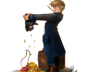 art and newt scamander image