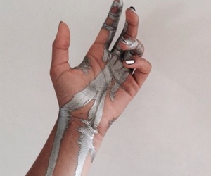 silver, aesthetic, and hand image