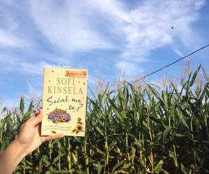 book, corn field, and sky image