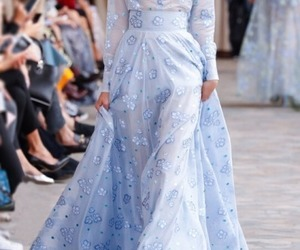 blue, bridal, and dress image