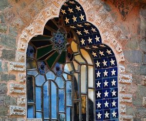 architecture, window, and mosaic image
