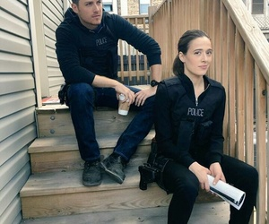 chicago pd, jesse lee soffer, and marina squerciati image