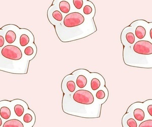 wallpaper, cat, and pattern image