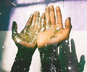 hands, glitter, and art image