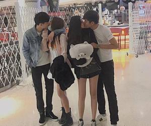 couple, kiss, and korean image