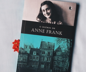 anne frank, book, and livros image