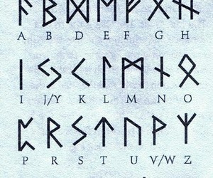 runes and alphabet image