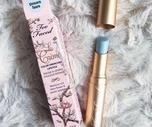 makeup, lipstick, and unicorn image