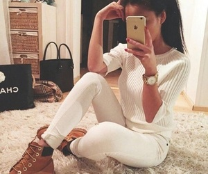 fashion, girl, and selfie image