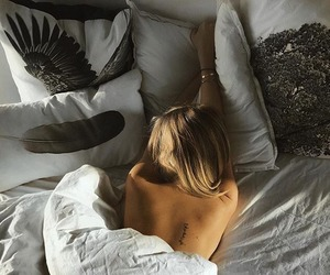 bed, girl, and indie image
