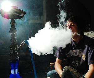 boy, smoke, and hookah image