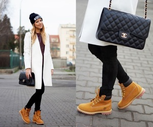 timberland, chanel, and boots image