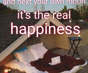 bed, happy, and words image