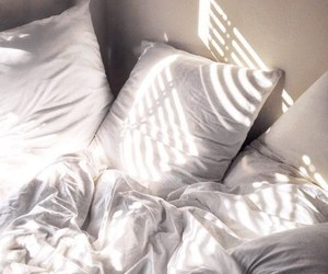 bed, white, and tumblr image