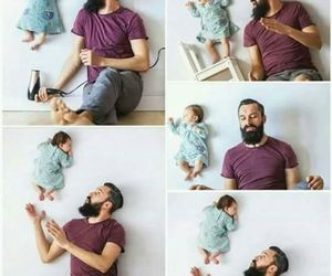 babies, style, and father image