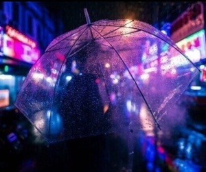 rain, neon, and light image