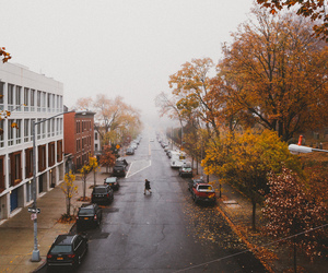 architecture, autumn, and cars image
