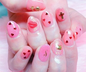 nail, pink, and nailart image