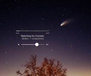 comet and sky image