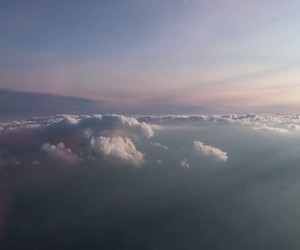 above, blue, and clouds image