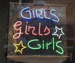 girls and neon image
