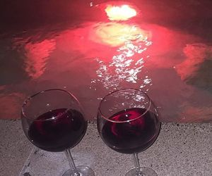 red, wine, and aesthetic image