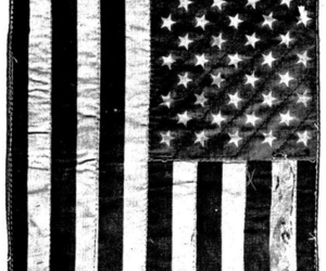black and white, america, and flag image