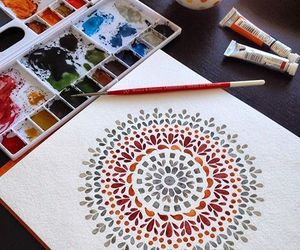 art, mandala, and painting image