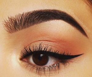 brown, eyebrows, and eyeliner image