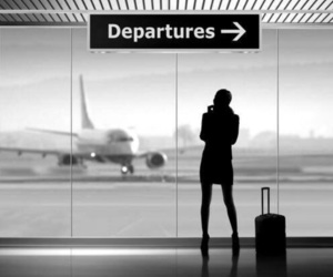airport, travel, and departures image