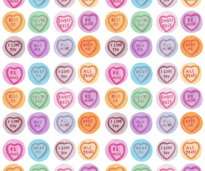 background, candy, and hearts image