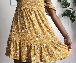 aesthetic, floral, and yellow image