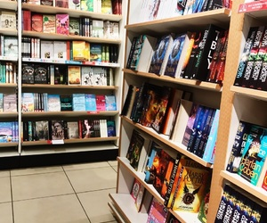 authors, bookcase, and books image