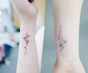 flowers and tatto image